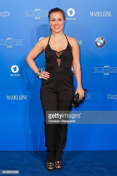 Sarah Tkotsch attends the Blue Hour Reception hosted by ARD during the 66th Berlinale International Film Festival Berlin on February 12 2016 in...