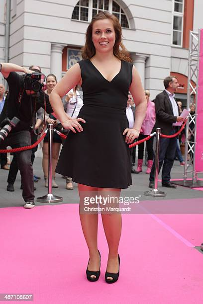 Sarah Tkotsch attends the 'Dirty Dancing' Musical Premiere at Admiralspalast on April 27 2014 in Berlin Germany