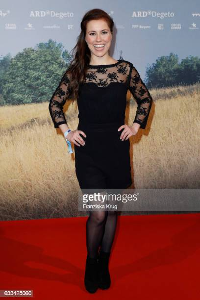 Sarah Tkotsch attends the 'Katharina Luther' Premiere at Franzoesische Friedrichstadtkirche in Berlin on February 1 2017 in Berlin Germany