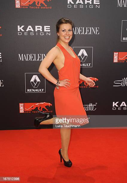 Sarah Tkotsch attends the new faces award Film 2013 at Tempodrom on April 25 2013 in Berlin Germany