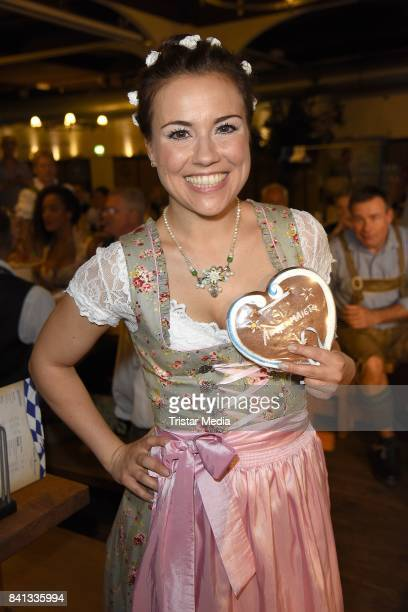 Sarah Tkotsch during the Angermaier TrachtenNacht at Hofbraeuhaus on August 31 2017 in Berlin Germany