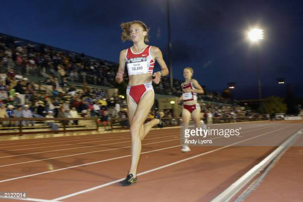 Sarah Toland competes in the women's 5000m final at the USA Outdoor Track and Field Championships on June 20, 2003 at Cobb Track and Angell Field at...