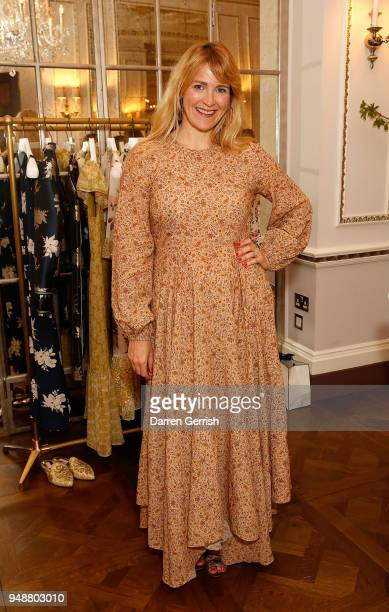 Sarah Tomczak attends the Boden Icons SS18 dinner at The Connaught Hotel on April 19 2018 in London England