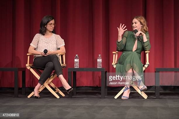 Sarah Treem and Ruth Wilson attend a screening for Showtime's The Affair at the Samuel Goldwyn Theater on May 6 2015 in Beverly Hills California