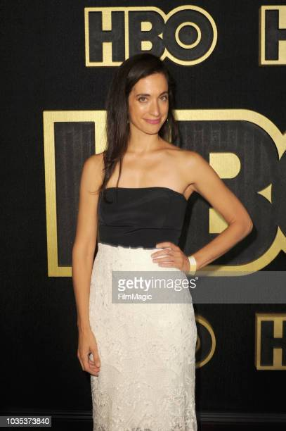 Sarah Treem arrives at HBO's Official 2018 Emmy After Party on September 17 2018 in Los Angeles California