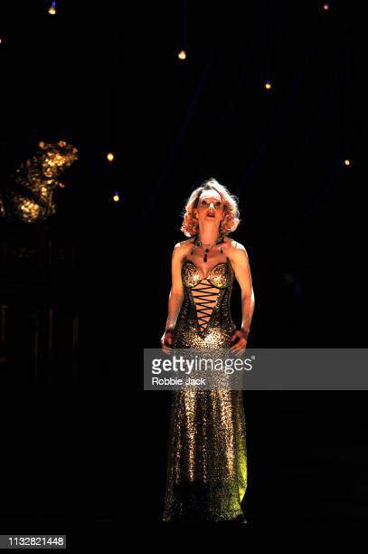 Sarah Tynan as Hanna Glawari in English National Opera's production of Franz Lehar's The Merry Widow directed by Max Webster and conducted by...
