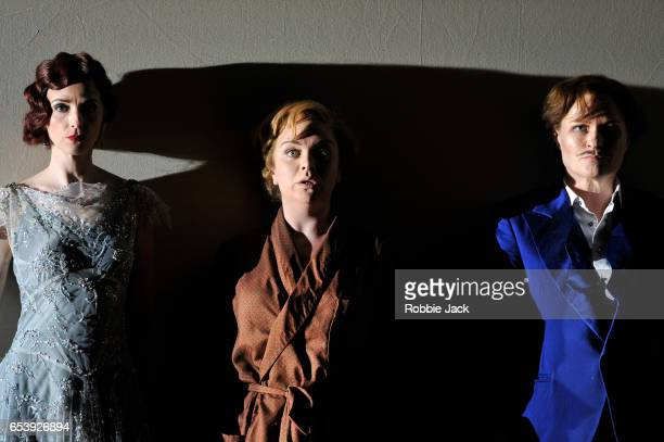 Sarah Tynan as Partenope Stephanie WindsorLewis as Rosmira and Patricia Bardon as Arsace in English National Opera's production of George Frideric...