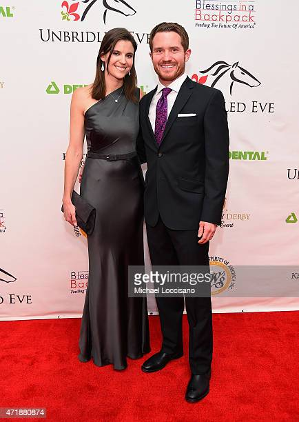Sarah Vickers and race car driver Brian Vickers attend the 141st Kentucky Derby Unbridled Eve Gala at Galt House Hotel Suites on May 1 2015 in...