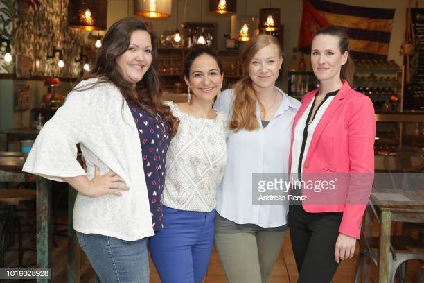 Sarah Victoria Schalow Shirin Soraya Franziska Arndt and Katrin Hoeft pose for a photograph during a photo call for the new tv series 'Freundinnen...