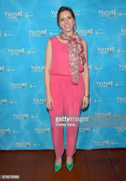 Sarah Violet attends the 'Search Party Scavenger Hunt' panel during Vulture Festival LA Presented by ATT at Hollywood Roosevelt Hotel on November 18...