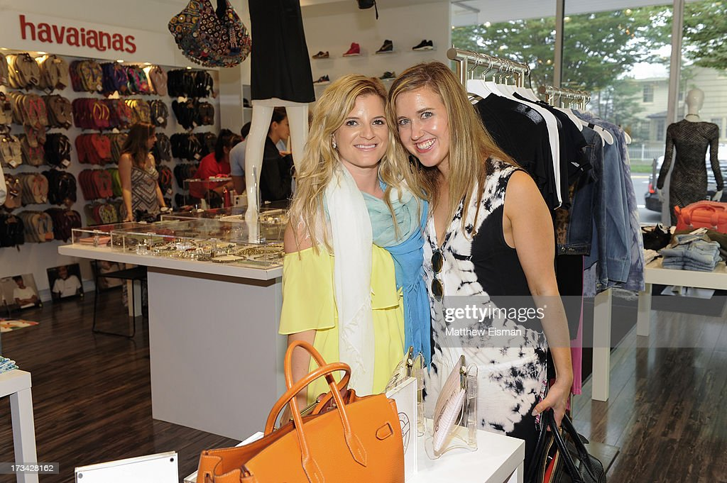 Sarah Vitale (L) and Kate Jacobson attend Blue & Cream presents the Hamptons Summer Soiree with Comes With Baggage and Havaianas on July 13, 2013 in East Hampton, New York.