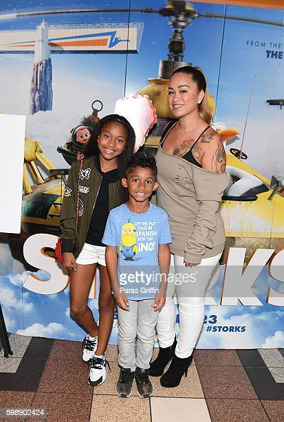Sarah Vivan and Dwayne Michael Carter III attend Storks private screening Hosted by The Ludacris Foundation Unspoken Angels on September 3 2016 in...