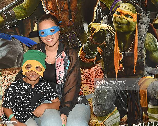 Sarah ViVan and Dwayne Michael Carter III attend the Atlanta Screening of the Paramount Pictures title Teenage Mutant Ninja Turtles Out of the...