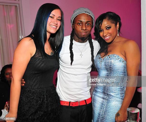 Sarah Vivan Lil Wayne and Antonia Wright attend Reginae Carter's 13th Birthday party at The Callanwolde Mansion on November 19 2011 in Atlanta Georgia