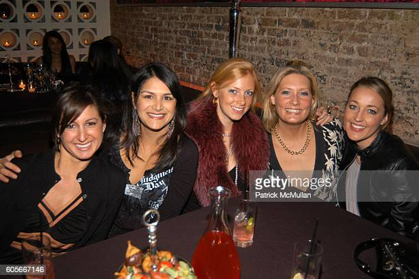 Sarah Wagman Zeema Sistani Betsy Stewart Angie Banicki and Kristen Hanson at DOUGLAS HANNANT After Show Dinner Hosted by Valesca GuerrandHermes at PM...