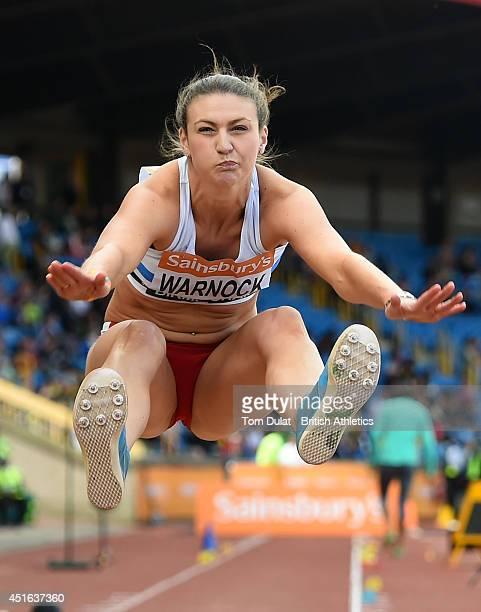 Sarah Warnock in action during Women's Long Jump on day three of the Sainsbury's British Championships at Birmingham Alexander Stadium on June 29...