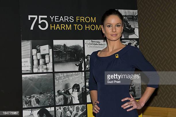 Sarah Wayne Callies attends the International Rescue Committee's Rebuilding Lives Annual Dinner at the Four Seasons Hotel on October 25 2012 in...