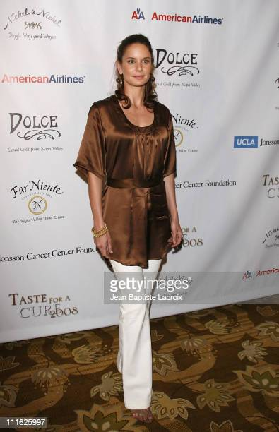 Sarah Wayne Callies attends the TASTE FOR A CURE fundraiser for the Jonsson Cancer Center Foundation on June 21 2008 at The Beverly Wilshire Hotel in...