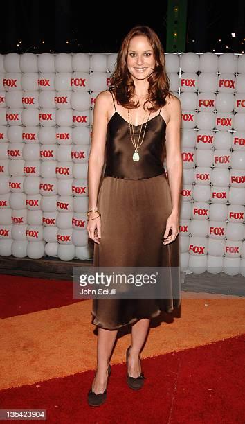 Sarah Wayne Callies of 'Prison Break' during FOX Summer 2005 AllStar Party Red Carpet at Santa Monica Pier in Santa Monica California United States