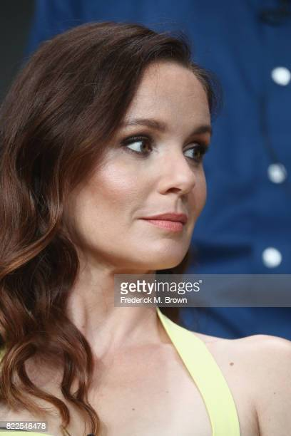 Sarah Wayne Callies of 'The Long Road Home' speaks onstage during the National Geographic Channels portion of the 2017 Summer Television Critics...