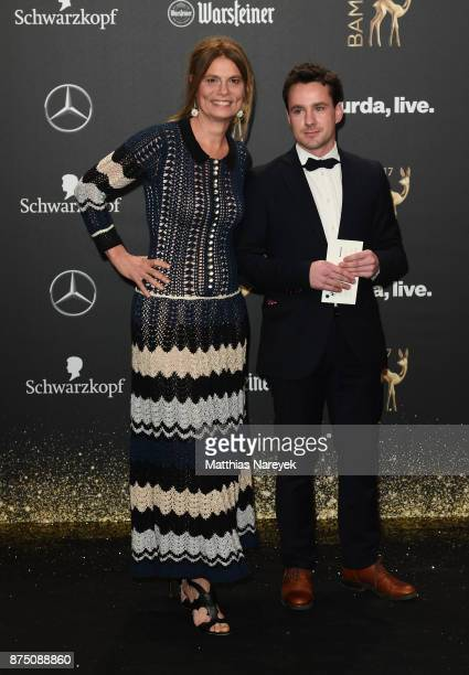 Sarah Wiener and a guest arrive at the Bambi Awards 2017 at Stage Theater on November 16 2017 in Berlin Germany
