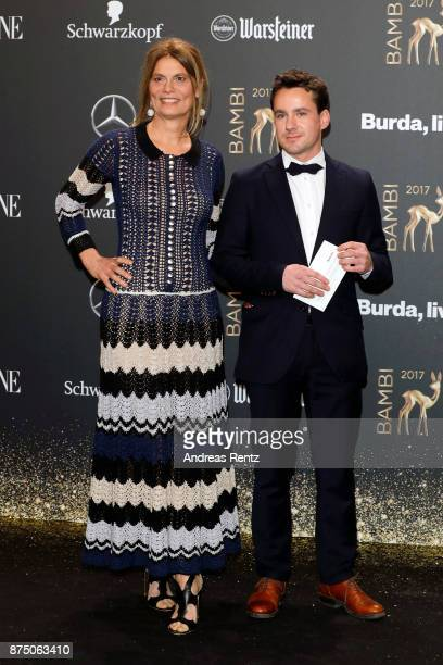 Sarah Wiener and guest arrive at the Bambi Awards 2017 at Stage Theater on November 16 2017 in Berlin Germany