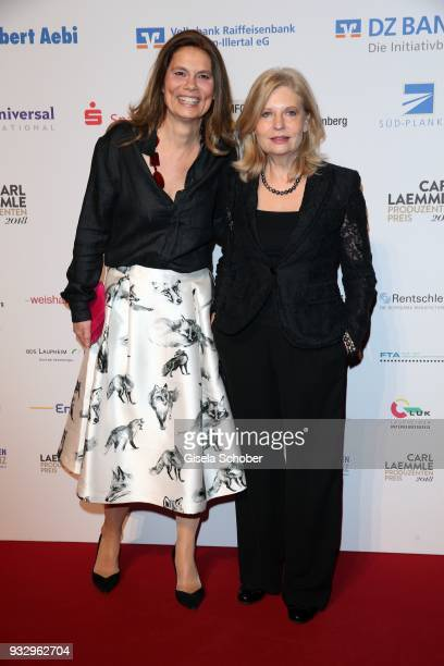 Sarah Wiener and Sabine Postel during the annual Carl Laemmle Producer Award at Kulturhaus Laupheim near Grosslaupheim Castle on March 16 2018 in...