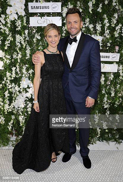 Sarah Williams and comedian Joel McHale arrive at the official 2016 CFDA Fashion Awards after party hosted by Samsung 837 in NYC on June 6 2016 in...