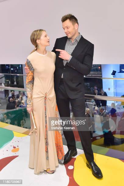 Sarah Williams and Joel McHale attend Hammer Museum's 17th Annual Gala In The Garden on October 12 2019 in Los Angeles California