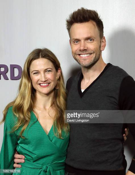 Sarah Williams and Joel McHale attend the 2018 Hammer Museum Gala In The Garden on October 14 2018 in Los Angeles California