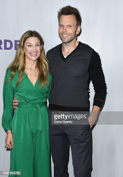 Sarah Williams Joel McHale arrives at the 2018 Hammer Museum Gala In The Garden on October 14 2018 in Los Angeles California