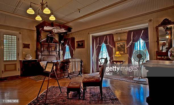 Sarah Winchester passed at away in her sleep from heart failure in this bedroom at the Winchester Mystery House in San Jose California in 1922 All...