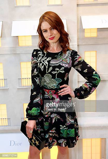 Sarah Winter attends the opening of the House Of Dior on New Bond Street on June 8 2016 in London England