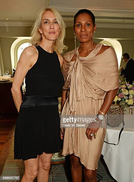 Sarah Woodhead and Sherett Dahlstrom attend a lunch hosted by Tamara Beckwith and Alessandra Vicedomini to celebrate luxury fashion brand Vicedomini...