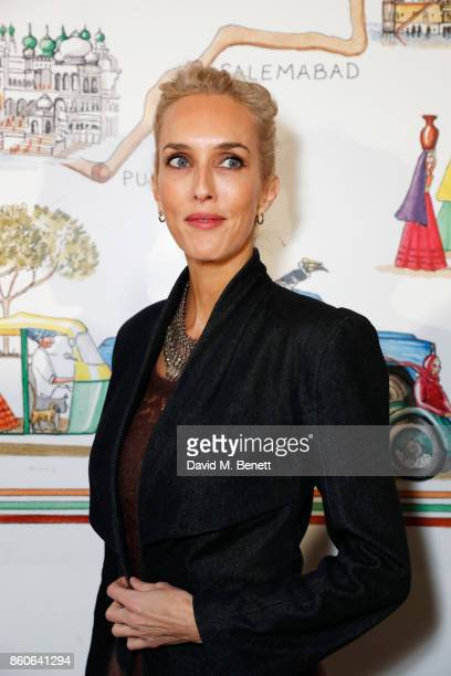 Sarah Woodhead attends the Travels to My Elephant racer sendoff party hosted by Ruth Ganesh Ben Elliot and Waris Ahluwalia in association with The...