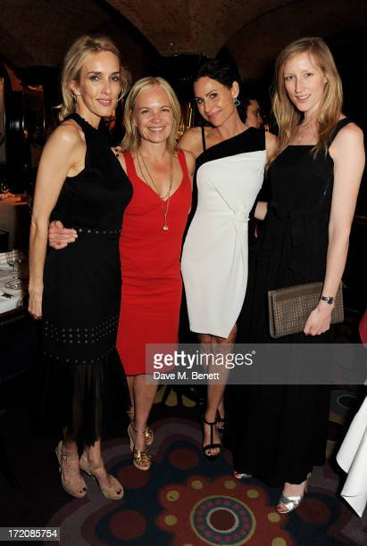 Sarah Woodhead Mariella Frostrup Minnie Driver and Jade Parfitt attend the launch of 'BlueHouse' Samsung's exclusive new members club at Annabels on...