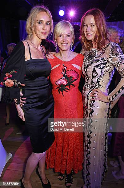 Sarah Woodhead Sally Greene and Dee Stirling attend the Summer Gala for The Old Vic at The Brewery on June 27 2016 in London England