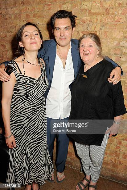 Sarah Wright director Joe Wright and Lyndie Wright attend an after party following the press night performance of 'A Season In The Congo' at The...