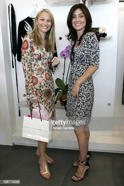 Sarah Wynter and Sasha Alexander during Diane von Furstenberg Los Angeles Store Opening - Luncheon at Diane von Furstenberg Boutique in Los Angeles,...