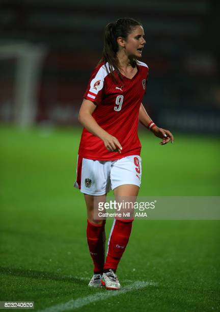Sarah Zadrazil of Austria Women during the UEFA Women's Euro 2017 match between Iceland and Austria at Sparta Stadion on July 26 2017 in Rotterdam...