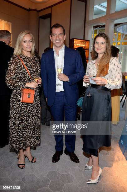 SarahAnn Murray George Glasgow and Alexandra Zaglasky attend a private dinner for the launch of Moynat at Selfridges held at JeanGeorges The...