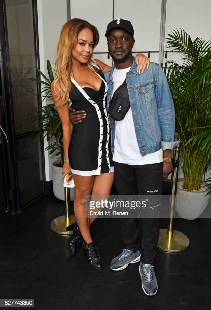 SarahJane Crawford and Arnold Oceng attend the launch of James Bay's new Topman collection at The Ace Hotel on August 8 2017 in London England