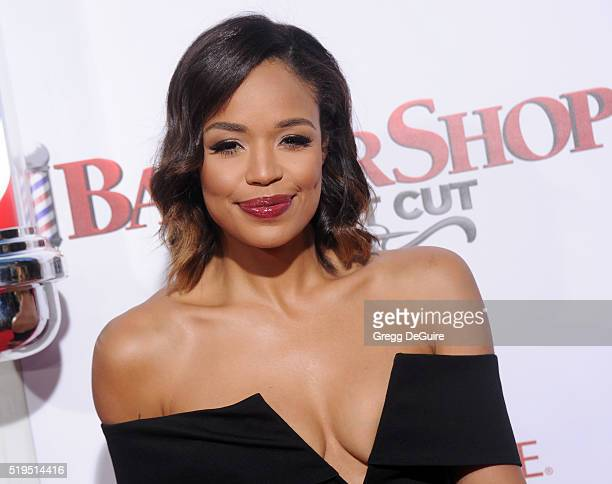 SarahJane Crawford arrives at the premiere of New Line Cinema's 'Barbershop The Next Cut' at TCL Chinese Theatre on April 6 2016 in Hollywood...