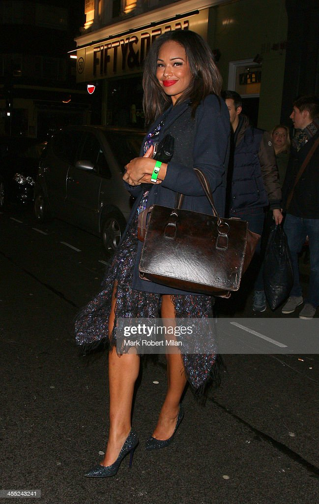 Sarah-Jane Crawford at the Groucho club on December 11, 2013 in London, England.