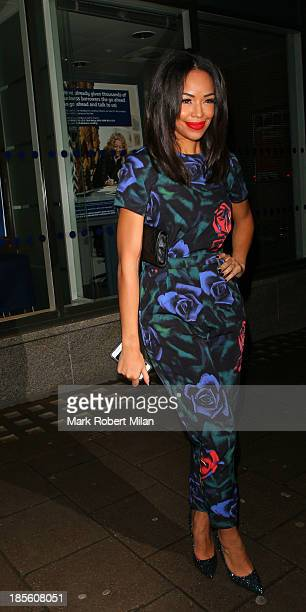 SarahJane Crawford attending the Claire's Accessories party on October 22 2013 in London England