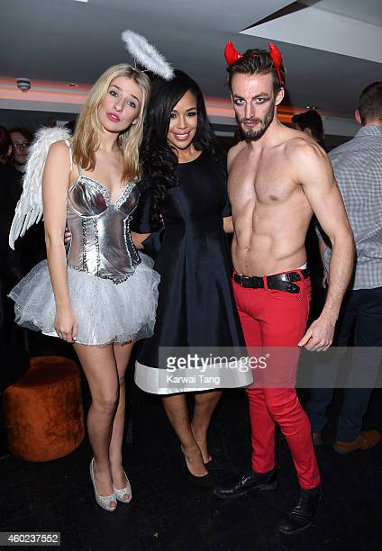 SarahJane Crawford attends the Metro Newspaper Christmas Party at Ramusake on December 8 2014 in London England