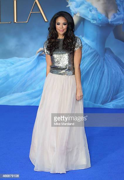 SarahJane Crawford attends the UK Premiere of Cinderella at Odeon Leicester Square on March 19 2015 in London England