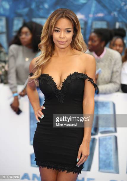 SarahJane Crawford attends the 'Valerian And The City Of A Thousand Planets' European Premiere at Cineworld Leicester Square on July 24 2017 in...