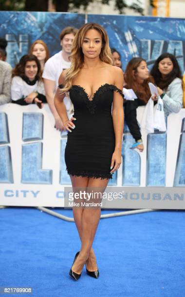 SarahJane Crawford attends the Valerian And The City Of A Thousand Planets European Premiere at Cineworld Leicester Square on July 24 2017 in London...