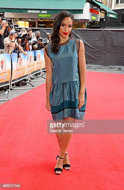 """Sarah-Jane Crawford attends the World Premiere of """"The Inbetweeners 2"""" at Vue West End on August 5, 2014 in London, England."""